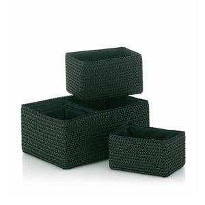 Sada 5 košíků Rimossa, černá