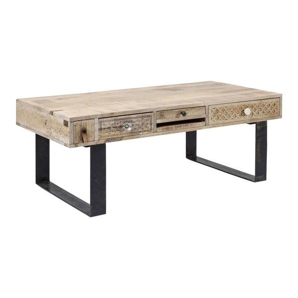 Konferenčný stolík s ručne vyrezávanými detailmi Kare Design Puro