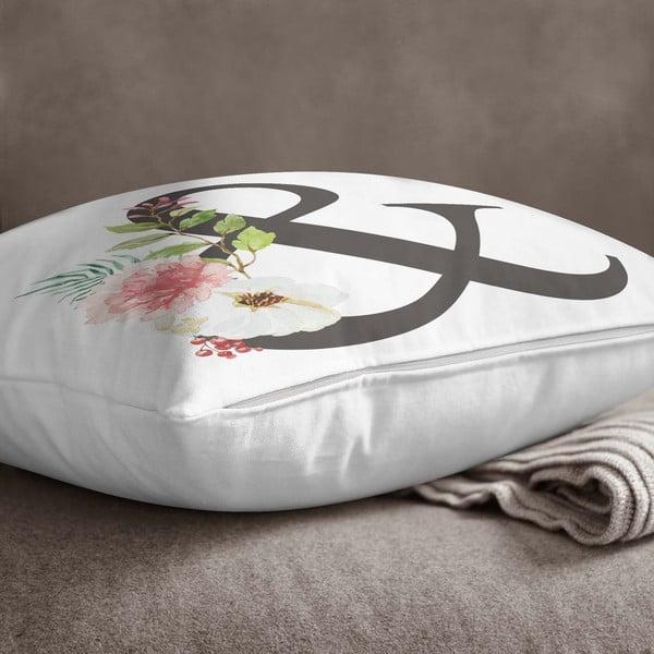 Față de pernă Minimalist Cushion Covers Floral Alphabet &, 45 x 45 cm