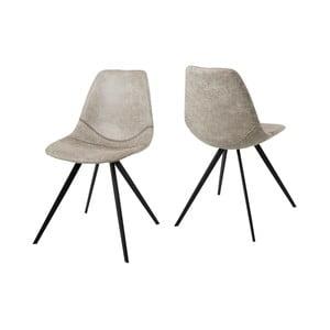 Krémová jídelní židle Canett Liva