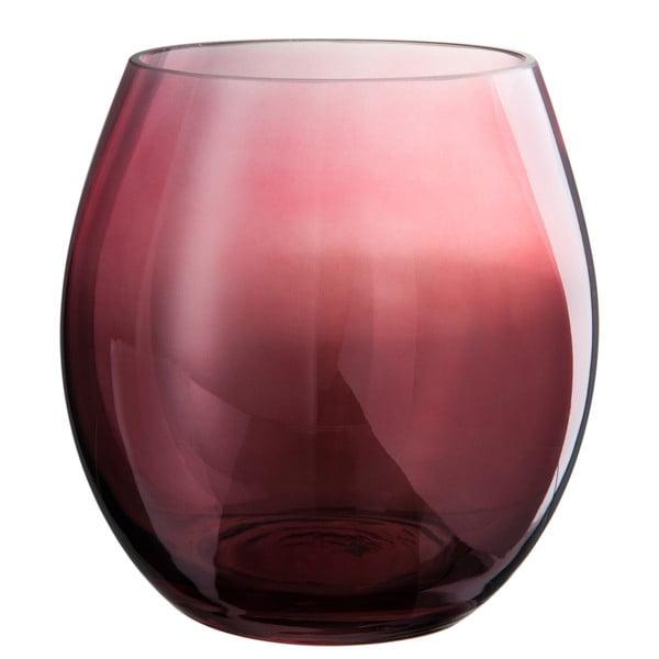 Skleněný svícen Glassy, výška 17 cm