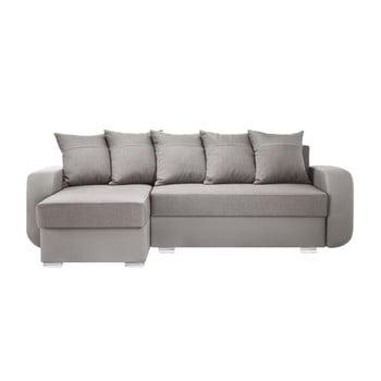 Canapea cu șezlong partea stângă Interieur De Famille Paris Destin gri - maro