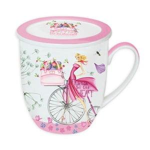 Porcelánový hrnek na čaj Pink Tea