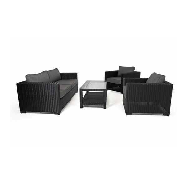 Černá trojmístná zahradní sedačka Brafab Ninja