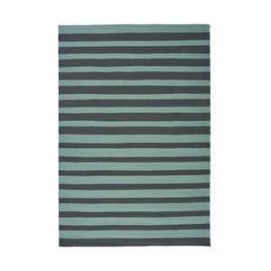 Tyrkysový ručně tkaný vlněný koberec Linie Design Toya, 200x300cm