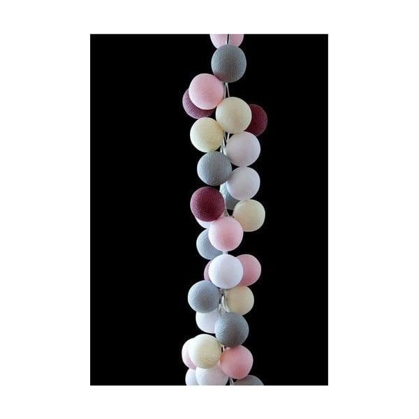 Světelný řetěz Marshmallow, 35 ks světýlek z kavárny U Kubistů