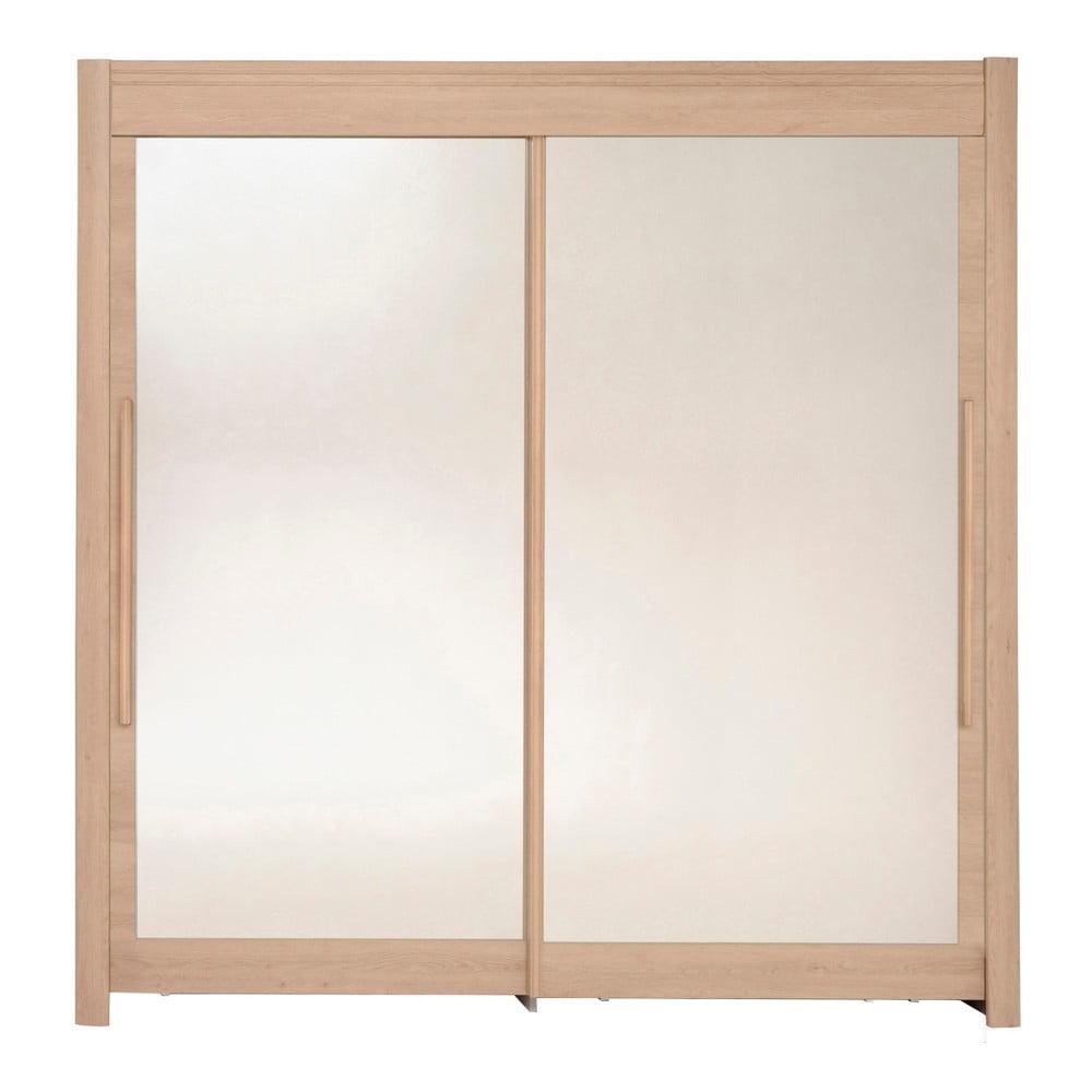Šatní skříň v dekoru dubového dřeva s posuvnými dveřmi Parisot Adorlée, šířka200cm
