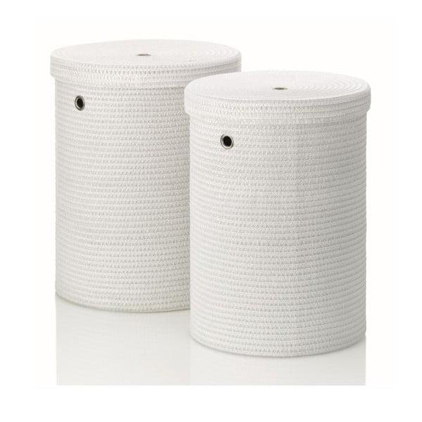 Sada 2 prádelních košů Rimossa, bílá