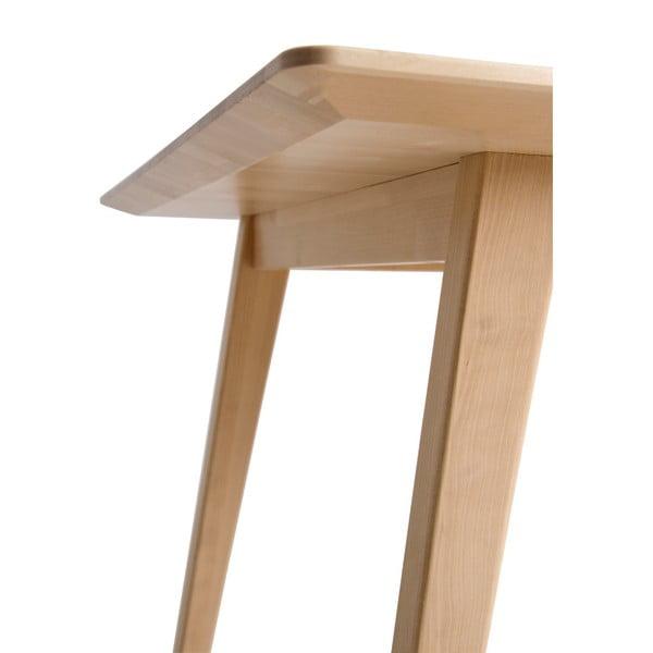 Ručně vyráběný konferenční stolek z masivního březového dřeva Kiteen Kolo