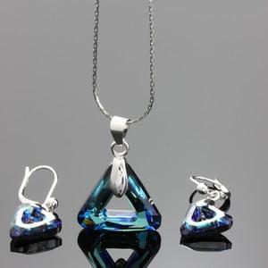 Set Swarovski Elements Triangles Blue
