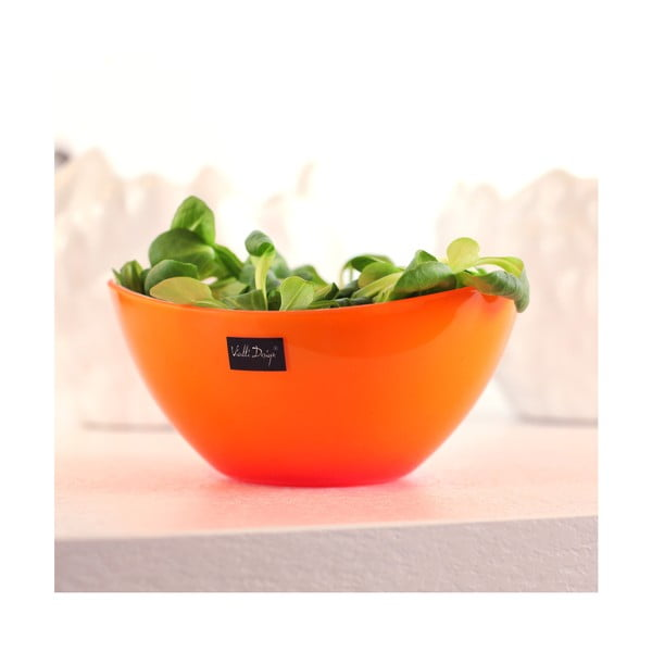 Bol pentu salată Vialli Design, 16 cm, portocaliu