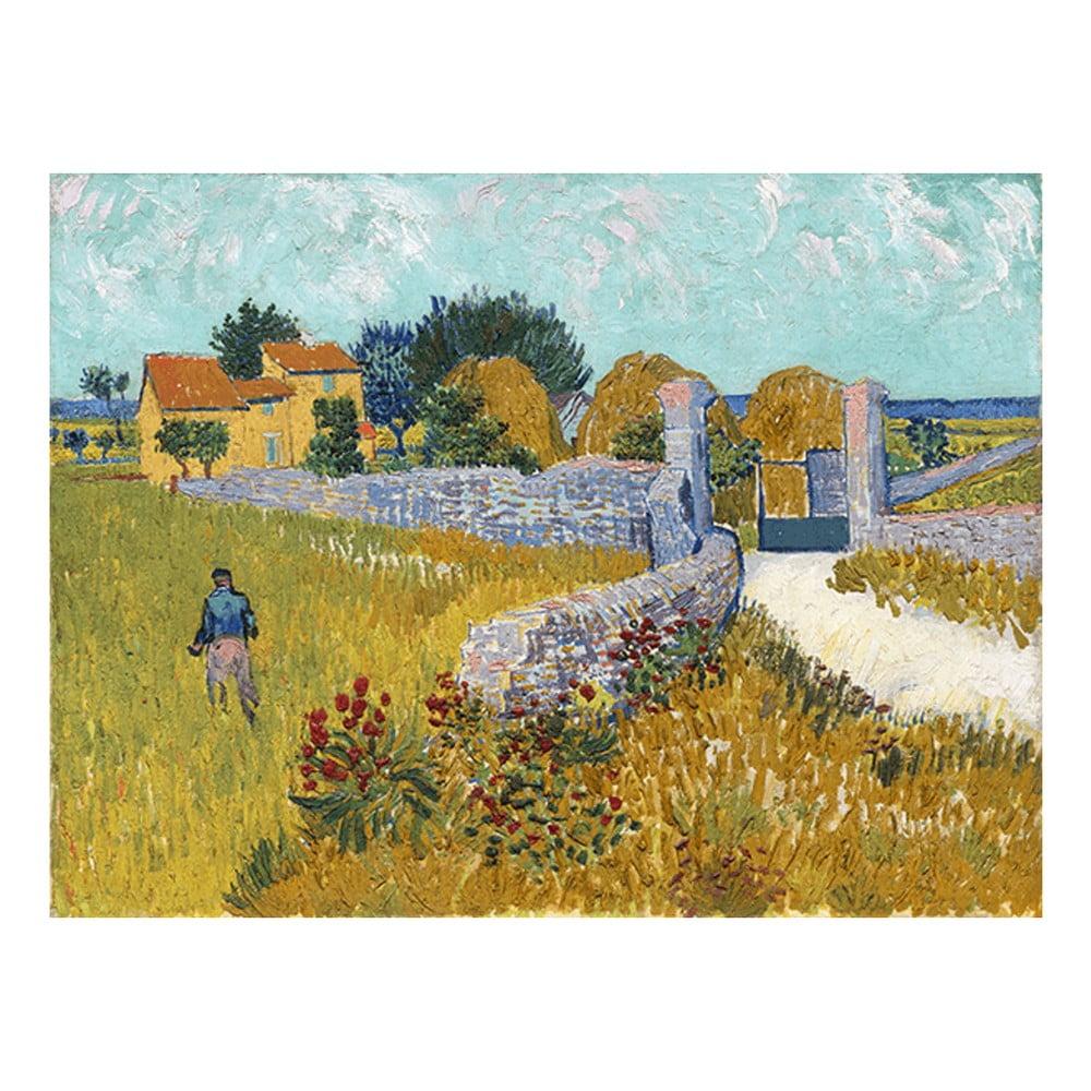 Reprodukce obrazu Vincenta van Gogha - Farmhouse in Provence, 40 x 30 cm