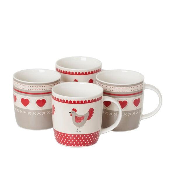 Sada 4 porcelánových hrnků Home Bistro