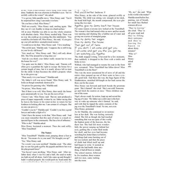 Knižní plakát Matilda, 70x100 cm