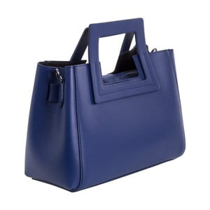 Tmavě modrá kabelka z pravé kůže Andrea Cardone Alessia