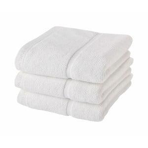 Bílý ručník Aquanova Adagio, 55x100cm