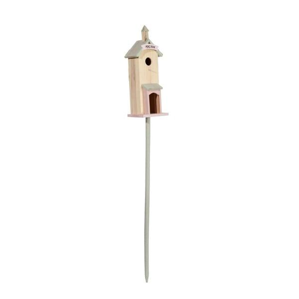 Stojací ptačí budka Pastel, 16x15x135 cm