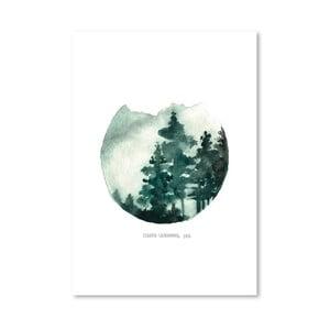 Plakát Green Mountain, 30x42 cm