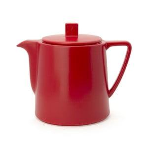 Červená keramická konvice se sítkem na sypaný čaj Bredemeijer Lund, 1 l