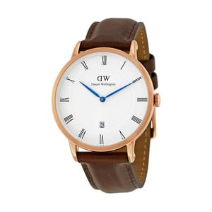 Dámské hodinky s hnědým páskem Daniel Wellington Bristol Rose, ⌀34mm
