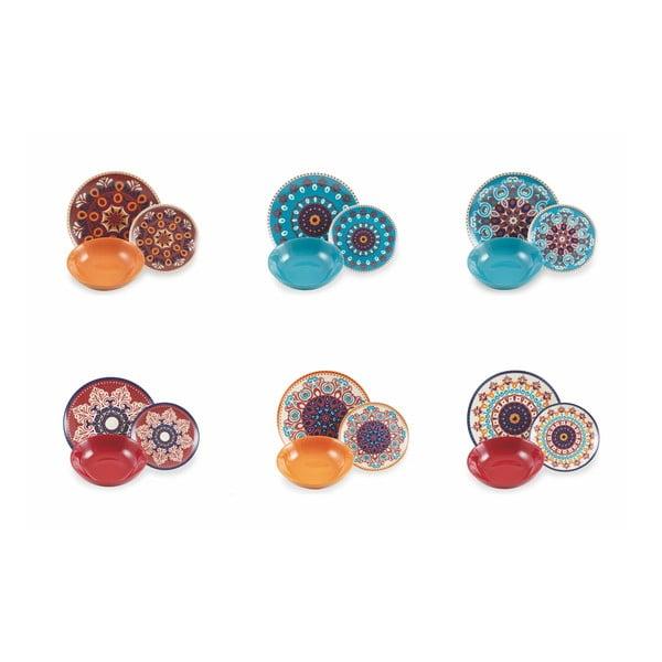 18dílná sada barevného nádobí z porcelánu a kameniny Villa d'Este Shiraz