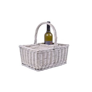 Proutěný košík s boxy na víno EgoDekor Picnic