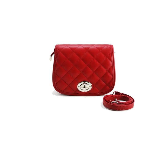 Kožená kabelka Vitello Piccolo Rosso