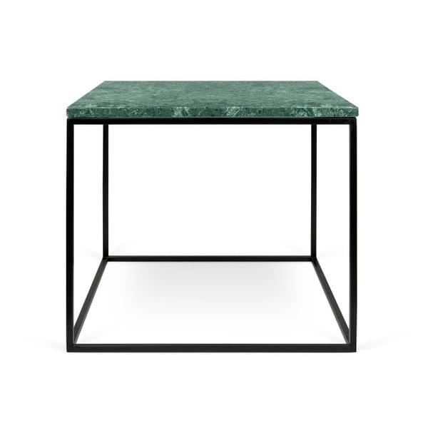 Zelený mramorový konferenční stolek s černými nohami TemaHome Gleam, 50 cm