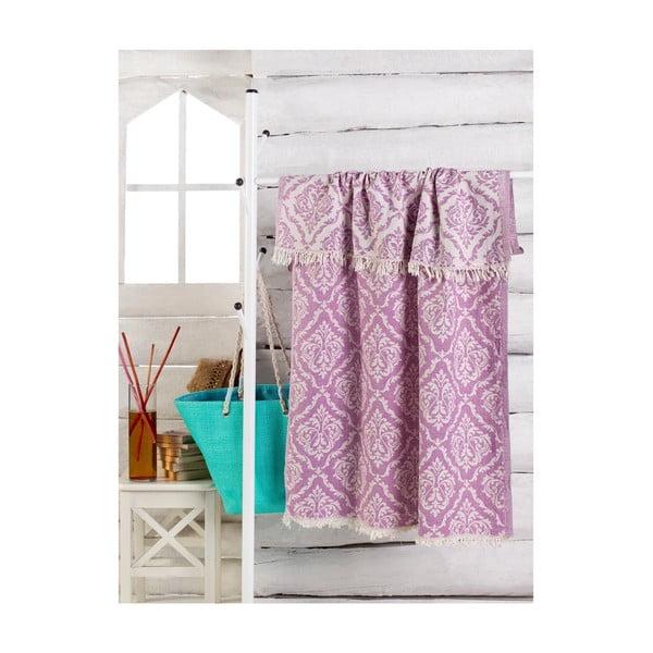 Fiolatowy ręcznik Varak 180x100 cm
