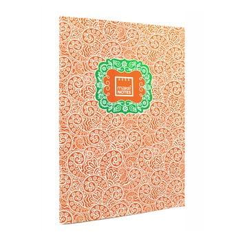 Agendă A7 Makenotes Paisley One, 40 file, portocaliu de la Makenotes