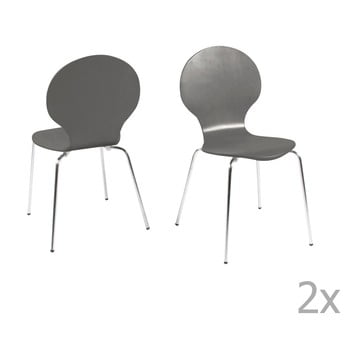 Set 4 scaune dining Actona Marcus, gri de la Actona