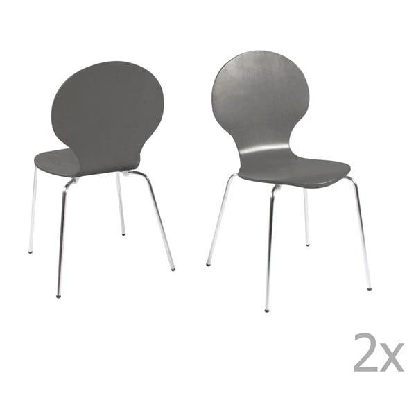 Sada 4 šedých jídelních židlí Actona Marcus