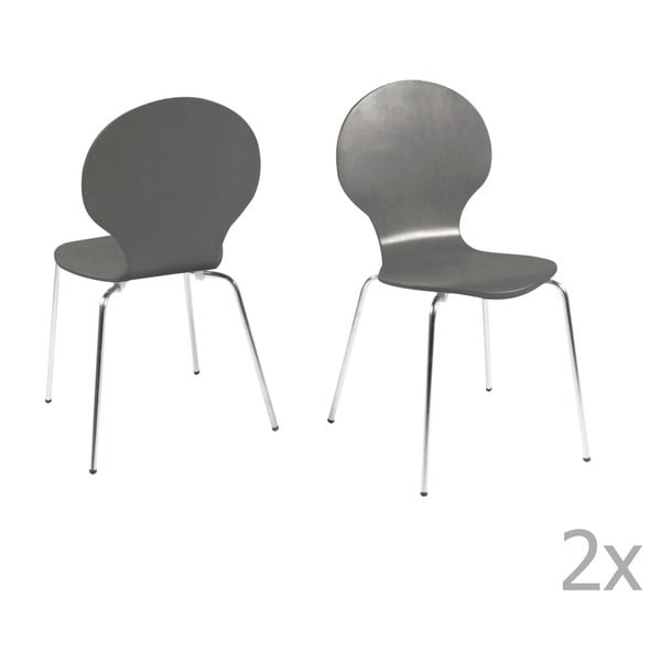 Zestaw 4 szarych krzeseł Actona Marcus