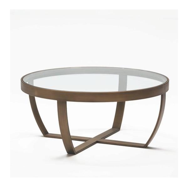 Konferenční stolek z kovu a skla Thai Natura Deep, ⌀ 80 x 35 cm