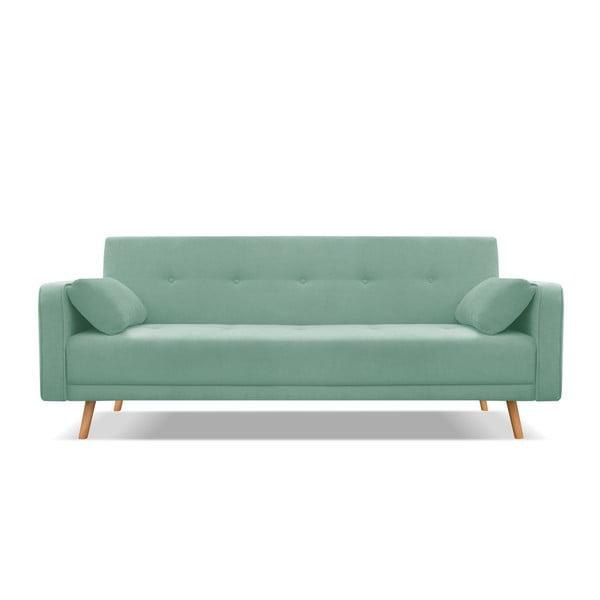 Mátově zelená třímístná rozkládací pohovka Cosmopolitan Design Stuttgart