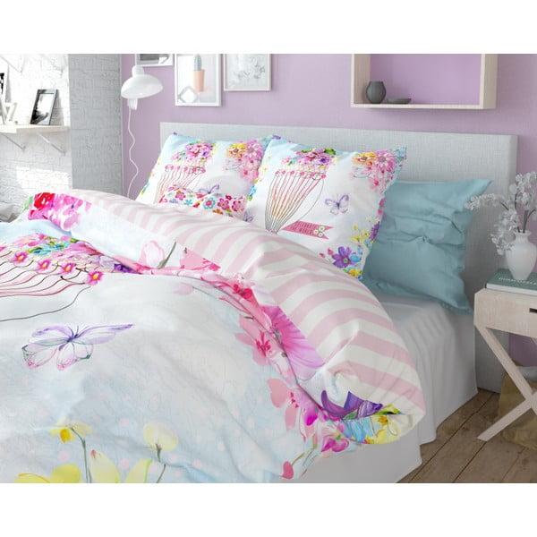 Lenjerie de pat din bumbac Dreamhouse So Cute Mya, 240 x 220 cm