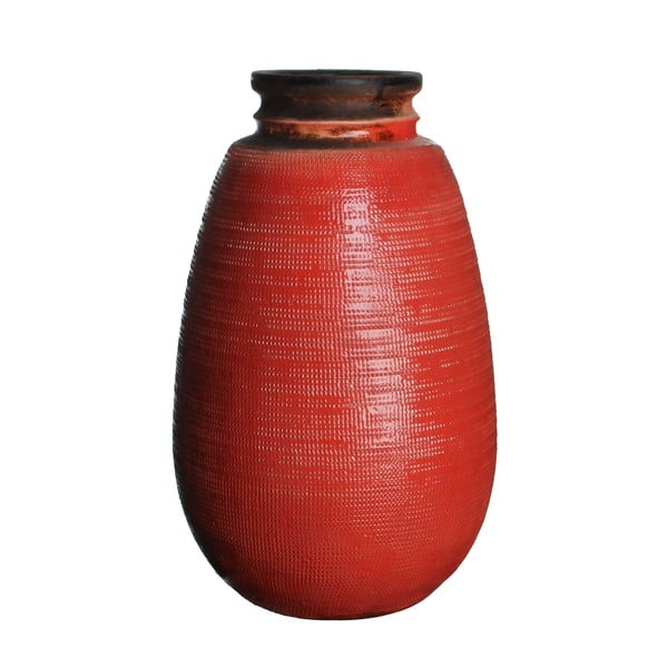 Keramická váza Latina Orange, 40 cm