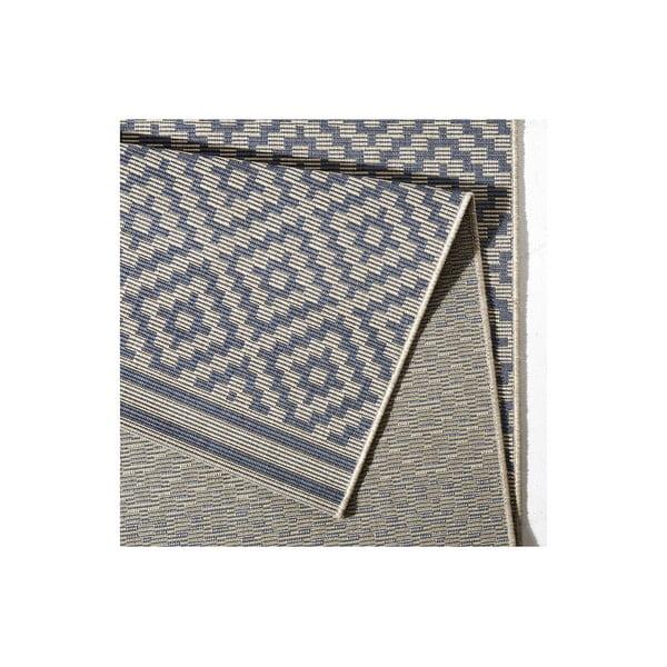 Modrý koberec Bougari vhodný i na ven Raute, 140x200cm