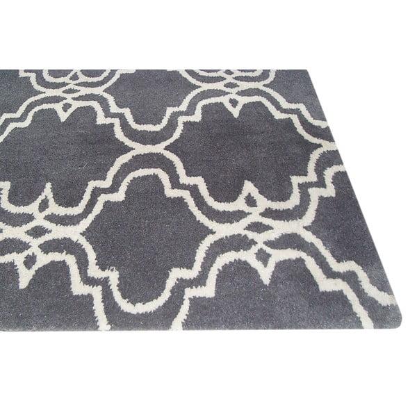 Ručně tuftovaný šedý koberec Bakero Riviera, 153x244cm