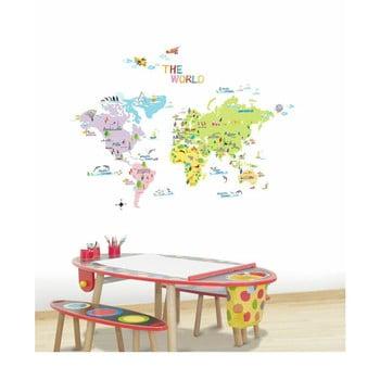 Set autocolante Ambiance World Map for Children imagine
