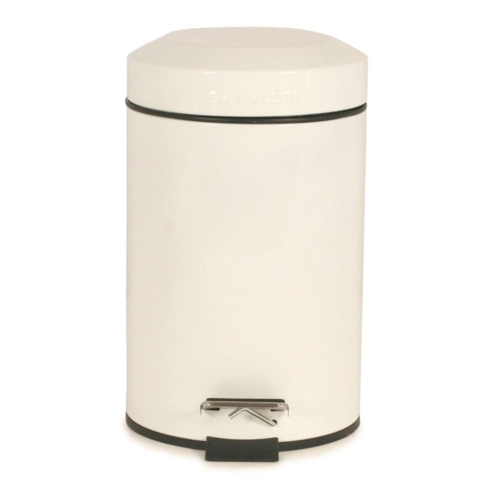 Bílý odpadkový koš Sabichi, 3 l