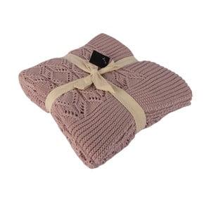 Béžová bavlněná deka Homemania Cotton, 170x130cm