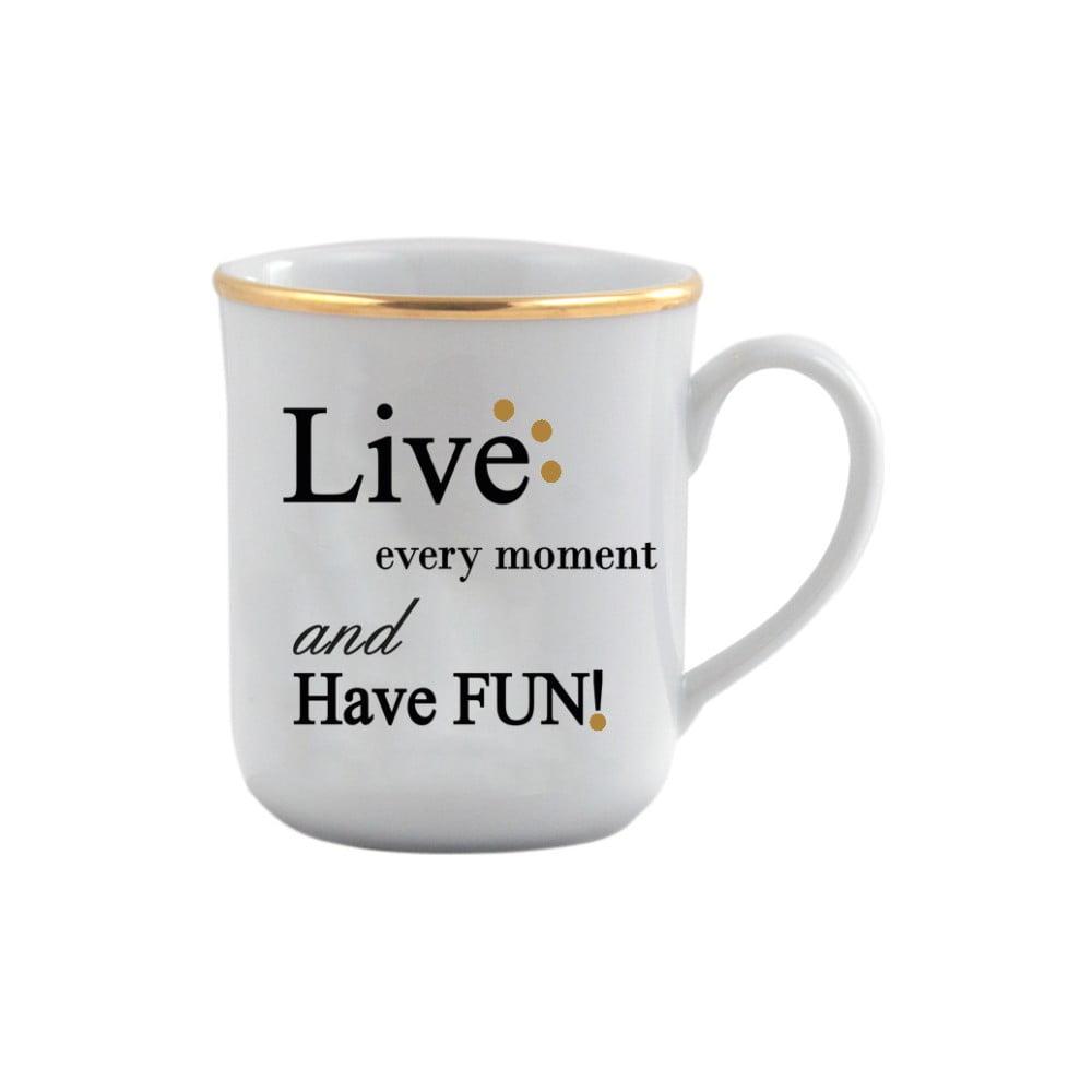 Porcelánový hrneček Vivas Live, 330ml
