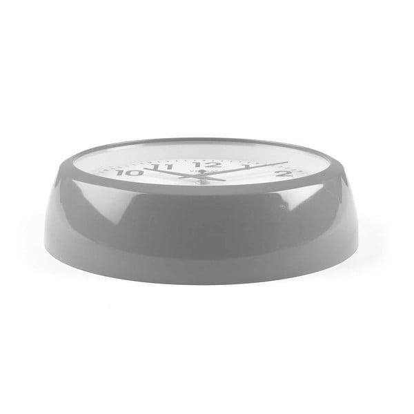 Nástěnné šedé kuchyňské hodiny Versa, ⌀30cm