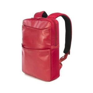 Červený dámský batoh z italské kůže Tucano Fina