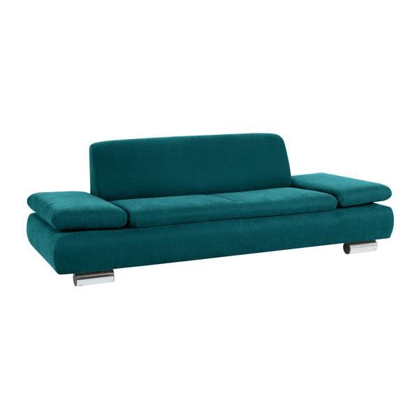 Canapea cu 3 locuri Max Winzer Terrence Anderson, cotiere ajustabile, albastru petrol