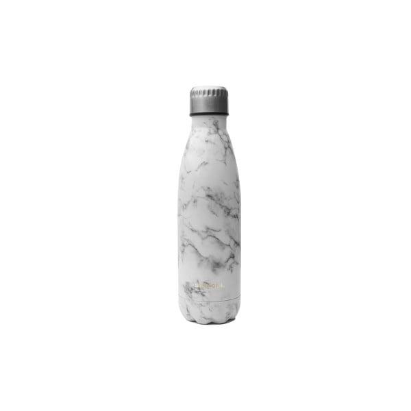 Termolahev z nerezové oceli s motivem mramoru Sabichi Stainless Steel Bottle, 450 ml
