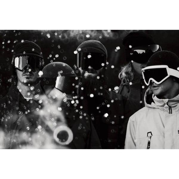 Pánské lyžařské brýle Electric EGV Solid Berry Jet Black, vel. M