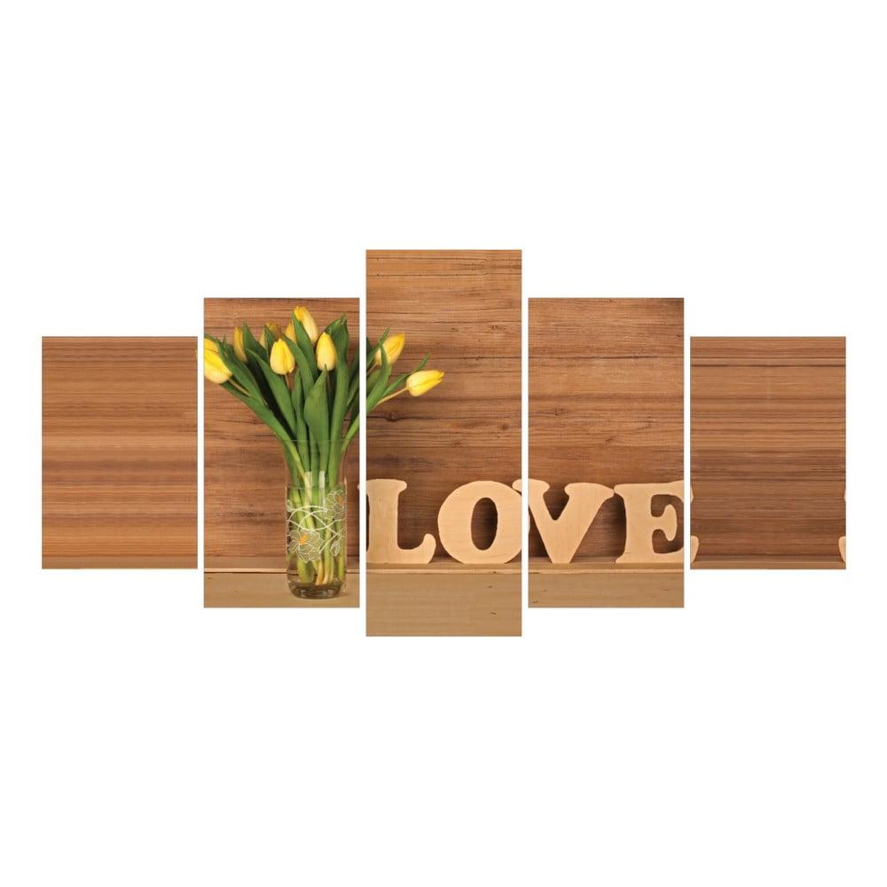 tablou din 5 piese la maison des couleurs love home bonami. Black Bedroom Furniture Sets. Home Design Ideas