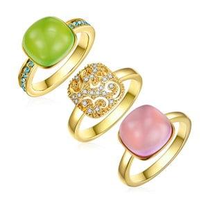 Sada 3 prstenů s krystaly Swarovski Lilly & Chloe Chloé, vel.52